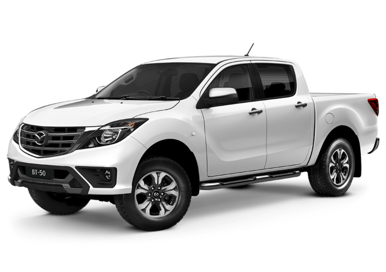 White, New Model Mazda BT50 XTR Dual Cab 4x4